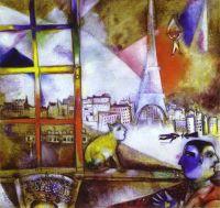 Вид Парижа из окна