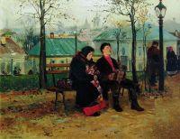 На бульваре. 1886-1887