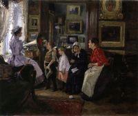 Слушают граммофон. 1910