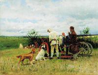 Охотники на привале. 1887