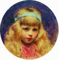 Портрет девочки с голубой лентой в волосах. 1890-е