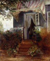 На крыльце. 1875