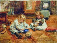 Дети, играющие в мастерской. 1880-е