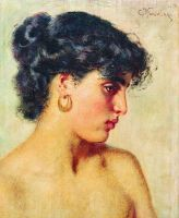 Портрет темноволосой красавицы