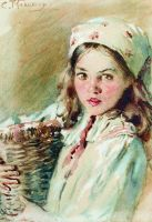 Головка девочки в платке