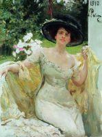 Портрет артистки Беллы Горской. 1910
