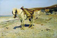 Лошадь для сбора камней в Вёле. 1874