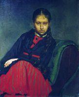 Портрет В.А.Шевцовой, впоследствии жены художника. 1869