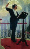 Портрет Антона Григорьевича Рубинштейна. 1909-1915