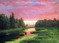 Закат над рекой. Начало 1880-х Холст, масло. 68 x 93.4 ЧС