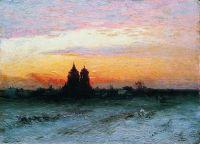 Зимний пейзаж. 1890 Картон, масло. 25.5 x 34.5 ЧС