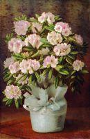 Цветы в корзине. Холст, масло. 93 x 62 ЧС