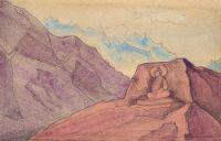 Этюд с образом Майтреи, высеченным на скале