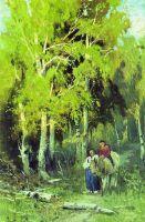 Дорога в березовом лесу. 1867-1869