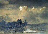 Лошади на водопое. 1867-1869