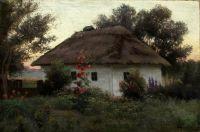 Украинский пейзаж с хатой. 1910