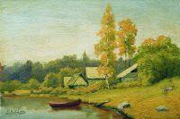 Деревушка на озере. 1890-е