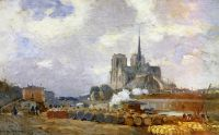 Нотр-Дам де Пари, вид с набережной де-ла-Турнель