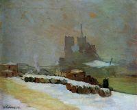 Вид на Нотр-Дам, зима, 1894