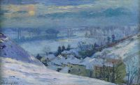 Деревня Эрбле под снегом, 1895