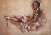 Отдыхающая балерина (Портрет балерины М.С.Добролюбовой).
