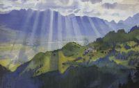 Горный пейзаж. Швейцария.