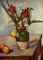 Натюрморт с тюльпанами и яблоками