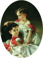 Портрет Марии Львовны и Софьи Львовны Перовских. 1859