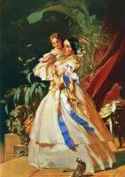 Портрет неизвестной с девочкой. 1860-е