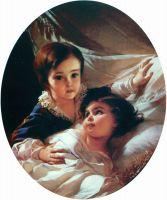 Портрет двух детей (из семьи Толстых). 1854