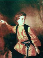 Портрет мальчика в оранжевой рубашке. 1890-е