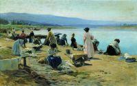 Прачки в Виши. 1895
