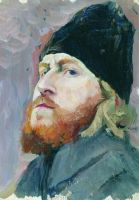 Портрет протодьякона Михаила Кузьмича Холомогорова. 1914