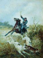 Охота с борзыми. 1889
