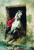 Из конюшни. 1866
