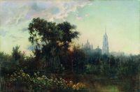 Пейзаж с колокольней. 1860-е