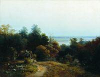 Пейзаж с избушкой. 1859