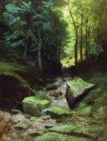 Лесной пейзаж с ручьем. 1889