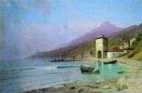 Вид Иверского монастыря на Афоне. 1900