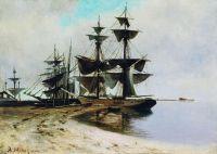 Приморский пейзаж. 1890