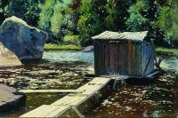 В купальне (Купальня). Конец XIX века