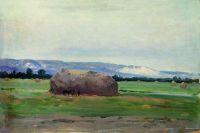Пейзаж со скирдой сена. 1900