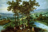 Весенний пейзаж с кортежем на аллее (совм. с Йосом де Момпером) (Частная коллекция)
