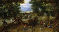 Лесная дорога с путниками (1607) (Нью-Йорк, Музей Метрополитен)