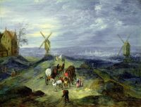 Пейзаж с двумя мельницами (1612) (Гамбург, Картинная галерея)