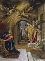 Благовещение (1576) (26 x 20) (Прадо, Мадрид)