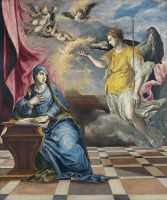 Благовещение (ок.1576) (117 х  98) (Мадрид, Музей Тиссен-Борнемис)