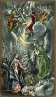 Благовещение (ок.1596-1600) (114 х 67) (Мадрид, Музей Тиссен-Борнемис)