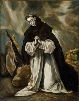 Св.Доминик на молитве (1605) (Бостон, Музей изящ.искусств)