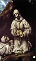 Св.Франциск и брат Лео размышляют о смерти (1601-1605) (Оттава, Нац.галерея Канады)